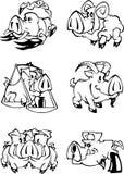 Pigkalender stock illustrationer