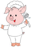 Piglet Cook Royalty Free Stock Image