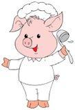 Piglet Cook vector illustration