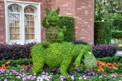 Piglet and Eeyore topiary display figure on display at Disney World
