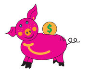Piglet piggy Bank. Stock Photography