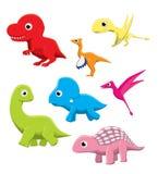 Pigmejowa dinosaur kreskówki wektoru ilustracja Zdjęcia Stock