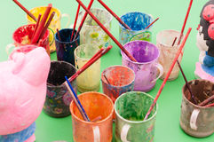 Pigment cups Stock Image