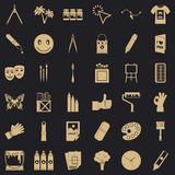 Pigment icons set, simple style. Pigment icons set. Simple set of 36 pigment vector icons for web for any design vector illustration