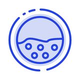Pigment, Skin, Skin Care, Skin, Skin Protection Blue Dotted Line Line Icon royalty free illustration
