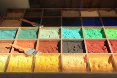 Pigmente los tintes Foto de archivo libre de regalías