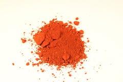 Pigmento rojo férrico Imágenes de archivo libres de regalías