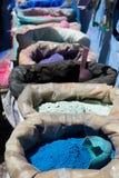 Pigmentos pulverizados em uns sacos Imagem de Stock Royalty Free