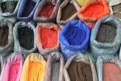 Pigments. Colors from the asian market Stock Image