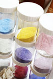Pigments painting. Shop for plastics, pigments painting Stock Photography