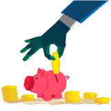 Pigmoneybox do investimento Ilustração do Vetor