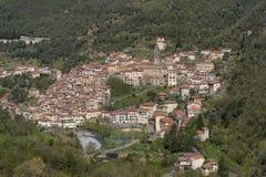Pigna antyczna wioska, prowincja Imperia, Włochy Obraz Stock
