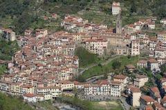 Pigna antyczna wioska, prowincja Imperia, Włochy Obrazy Stock