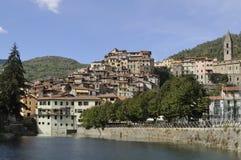 Pigna village and lake, liguria Stock Image