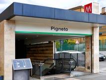 Pigneto External Entrance Metro or Subway C lane in Rome Italy. Pigneto External Entrance Metro or Subway Stop C lane in Rome Italy Royalty Free Stock Photography