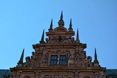 Pignon de château de Johannisburg à Aschaffenburg, Allemagne photos libres de droits