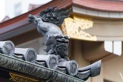 Pignon japonais de toit de lion Image libre de droits