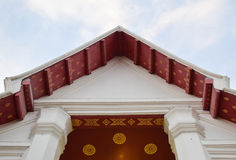 Pignon thaïlandais de temple Photographie stock libre de droits
