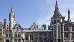 Pignons à Gand, Belgique Photographie stock libre de droits