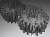Pignons d'accouplement en plastique transparent Photographie stock
