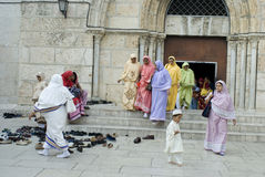 Pigrims en Jerusalén Fotografía de archivo