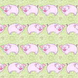 Pigs. Background,  illustration. Stock Photo