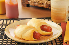 Pigs in a blanket Stock Image