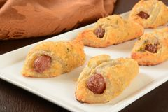 Pigs in a blanket Royalty Free Stock Photos