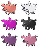 Pigs cartoon collection Royalty Free Stock Image