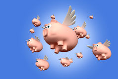 When Pigs Fly Stock Photo