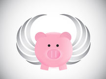 When pigs fly. concept illustration design Royalty Free Stock Images