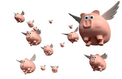 When Pigs Fly Group Royalty Free Stock Images