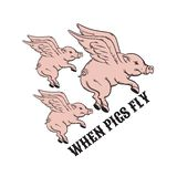 When pigs fly. Quote typographical background. Stock Photography