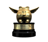 When Pigs Fly Trophy Award royalty free illustration