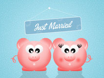 Pigs in love Royalty Free Stock Photography