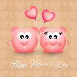 Pigs in love Royalty Free Stock Images