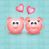 Pigs in love Royalty Free Stock Photo