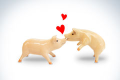 Pigs in love Stock Photos