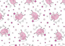 Pigs might fly. Vector illustration of some flying pigs in a repeat pattern Royalty Free Stock Image