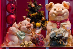 Pigs-New Year's toy symbols Royalty Free Stock Image