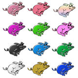 Pigs running Royalty Free Stock Image