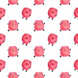 Pigs. Seamless pattern. Symbol of the year 2019. it can be used as a poster, Christmas card, invitation and t-shirt. Printing royalty free stock photography
