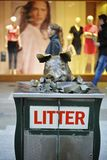 Pigs statue in the shopping precinct of Rundle Mall. Stock Photography