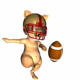 Pigskin 2. A pig punting a football Royalty Free Stock Photography
