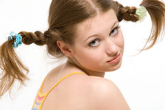 Pigtails Royalty Free Stock Image