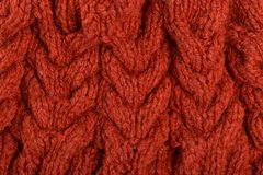 Pigtails on Knitwear Fabric Texture royalty free stock images