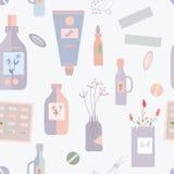 Pigułki i lekarstwo bezszwowy wzór Obraz Royalty Free