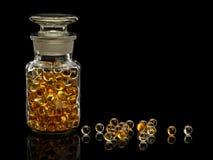Pigułki z wątróbka olejem Zdjęcie Royalty Free