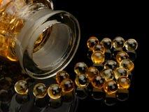 Pigułki z wątróbka olejem Fotografia Royalty Free