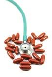 pigułka stetoskop Obraz Stock